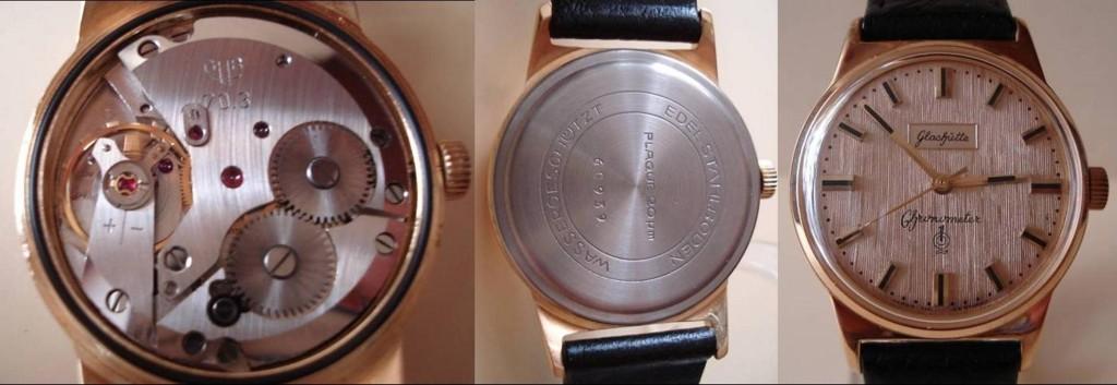 Gehäuse, ZB & Werk sind original GUB. Es gab aber keine Uhr in dieser Zusammenstellung und schon gar kein Chronometer in dieser Ausfuhrung.