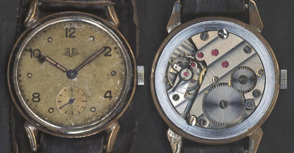 GUB Uhr mit Kaliber 613, unrestaurierter Originalzustand