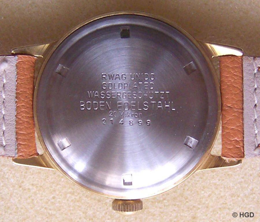 20 Mikron Goldplatedgehäuse der Pforzheimer Firma Ernst Wagner OHG für GUB Kaliber 66 & 66.1