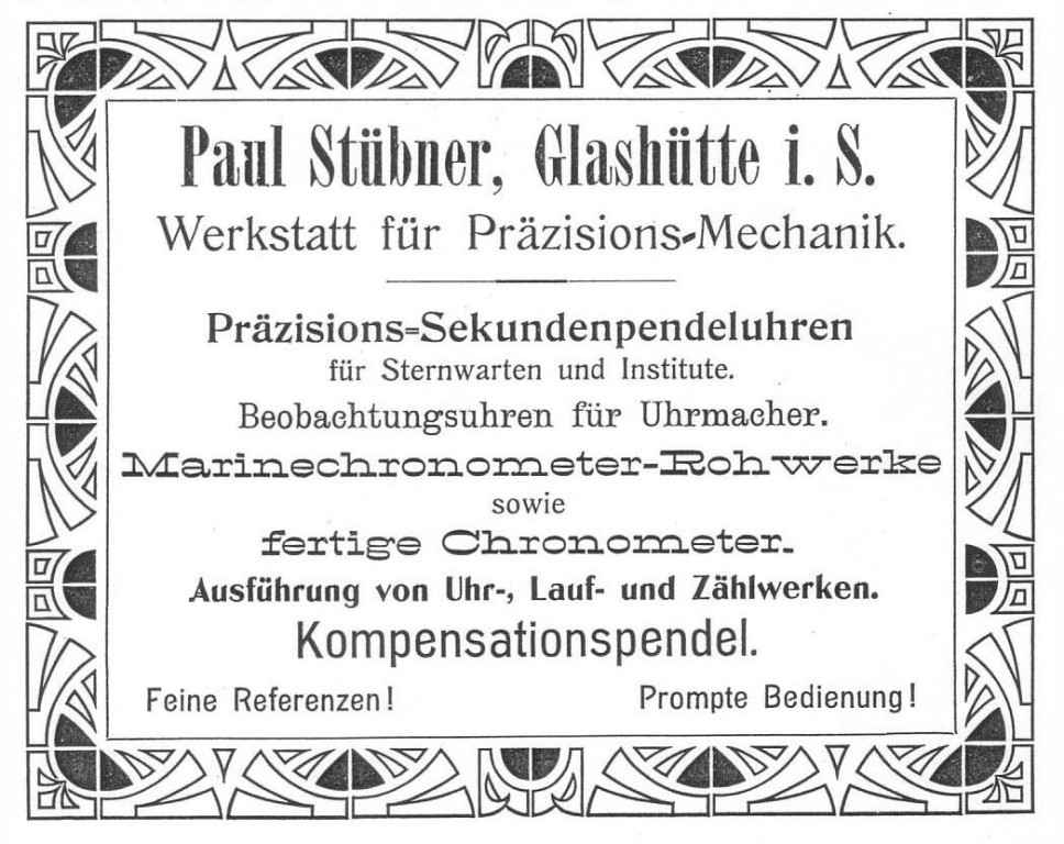 Werbung in Saxoniabericht 1906