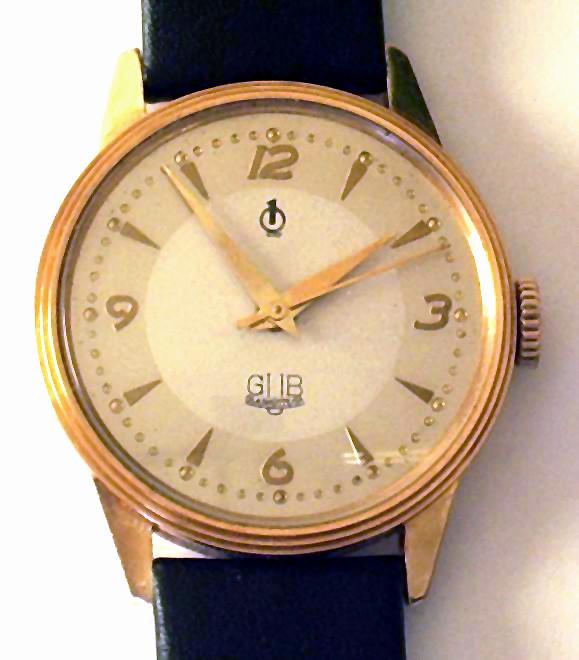 GUB Uhr Kaliber 28.1 im Import Goldgehäuse