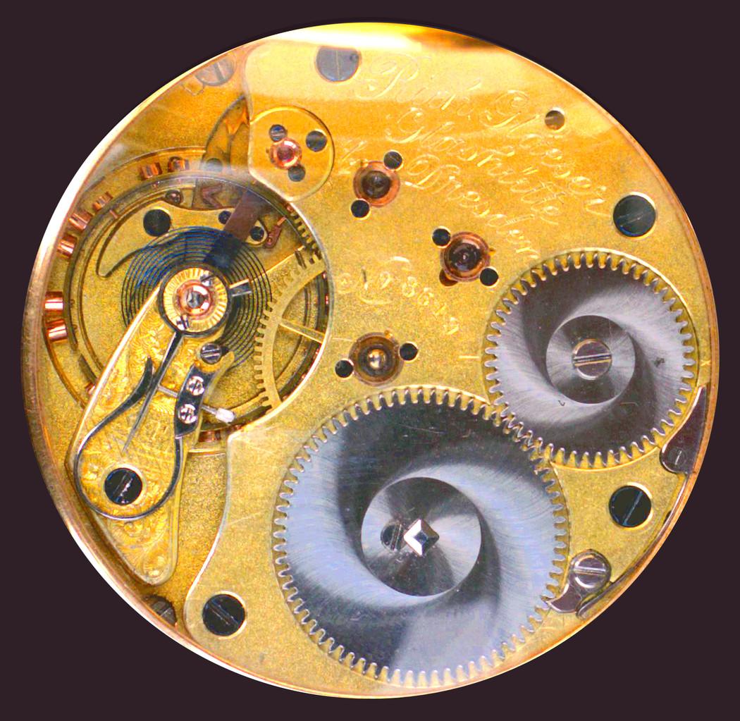20-steiniges Werk mit geschraubten Goldchatons in feinster Vollendung