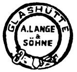 Gehäusepunze der Firma A. Lange & Söhne