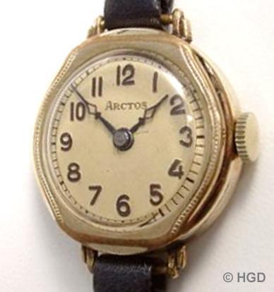 Arctos Uhr der Pforzheimer Firma Weber & Aeschbach mit Urofa Werk Kaliber 522
