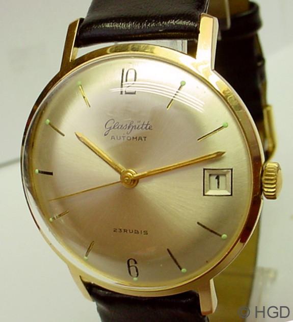 GUB Kaliber 67.1 restauriert in 36 mm Gehäuse des Uhrenwerkes Weimar