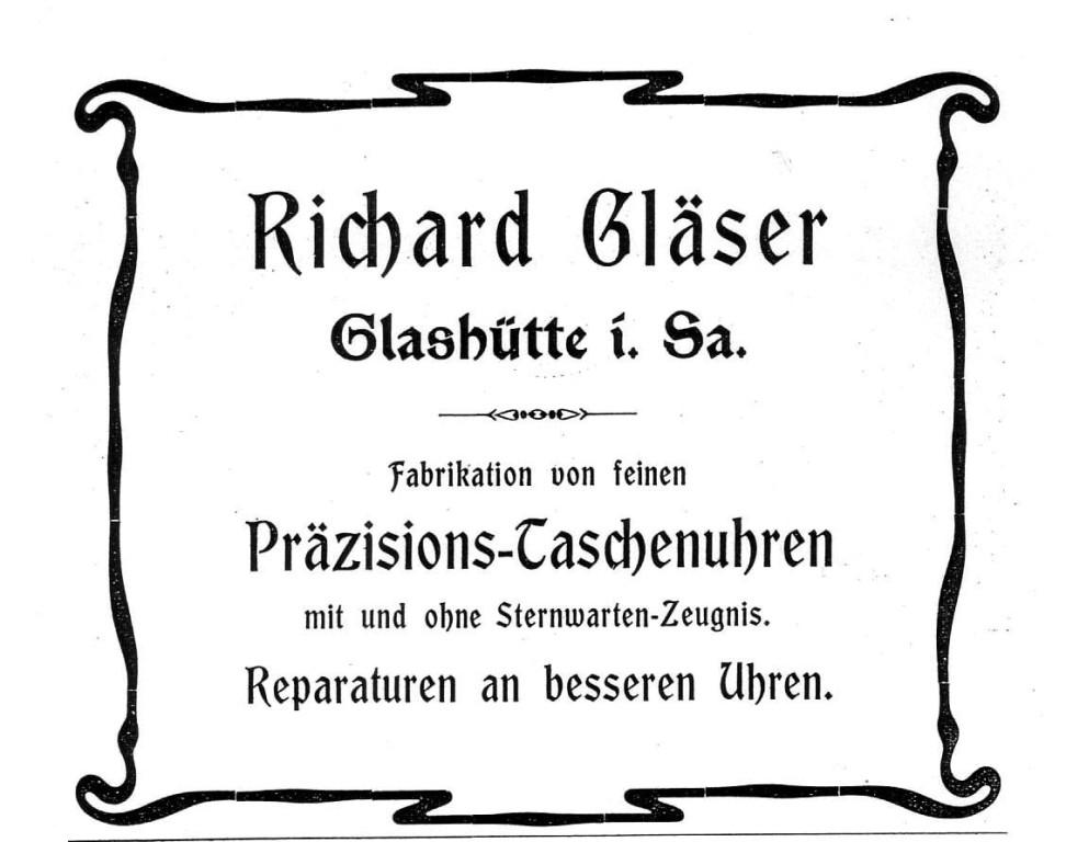 Werbung in Saxoniabericht 1904