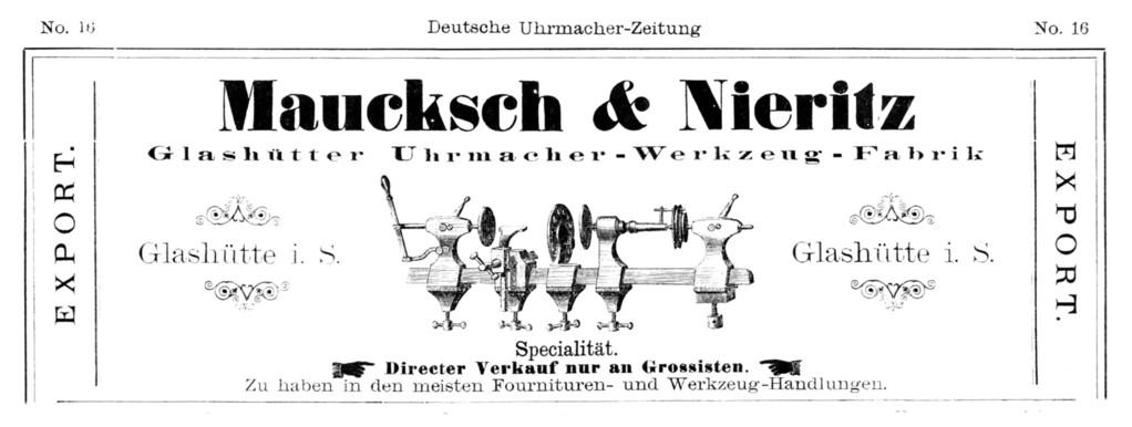 Deutsche Uhrmacher-Zeitung Nr.16 von 1886