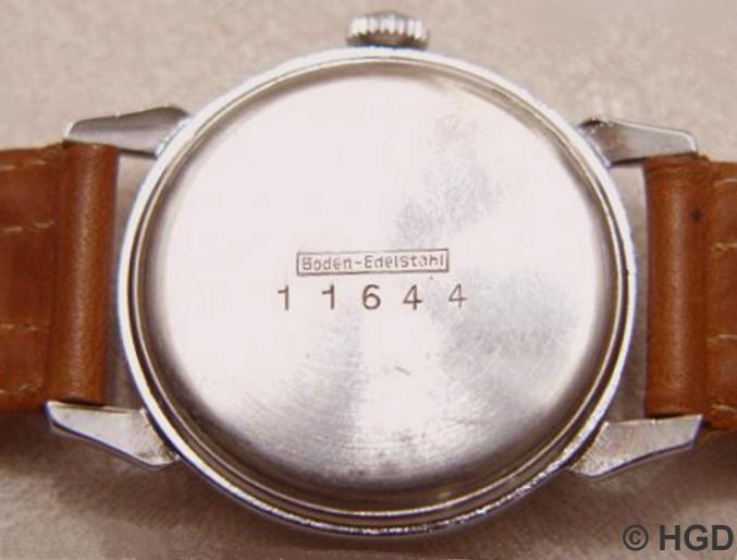 GUB Uhr mit Kaliber 613, 63 mm Nickel/Chromgehäuse mit Edelstahldruckdeckel