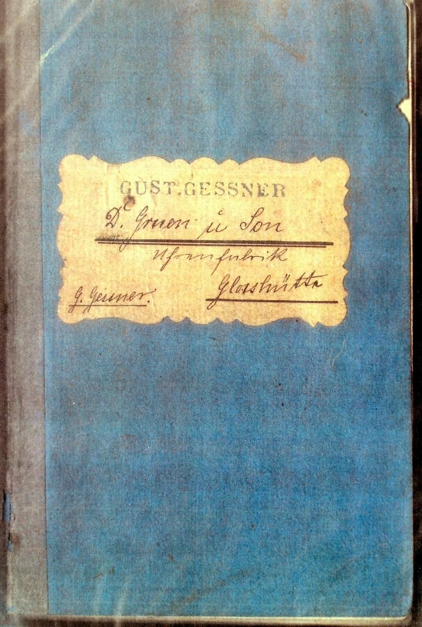 Arbeitsbuch vom Graveur Gustav Gessner für die Uhren der Firma Gruen