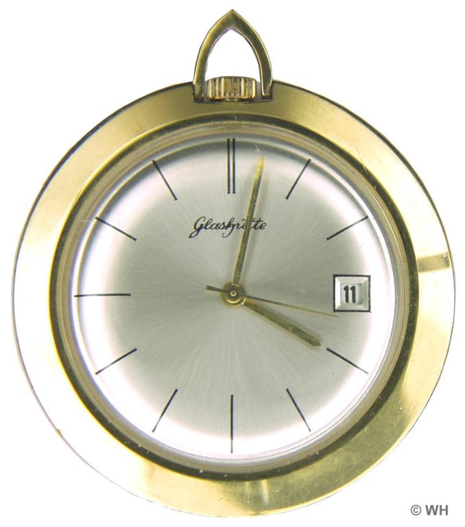 Frack oder Kleintaschenuhr Kaliber 79, runde Ausführung mit Datum