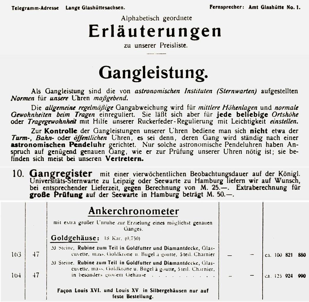 Auszug aus ALS Katalog 1826