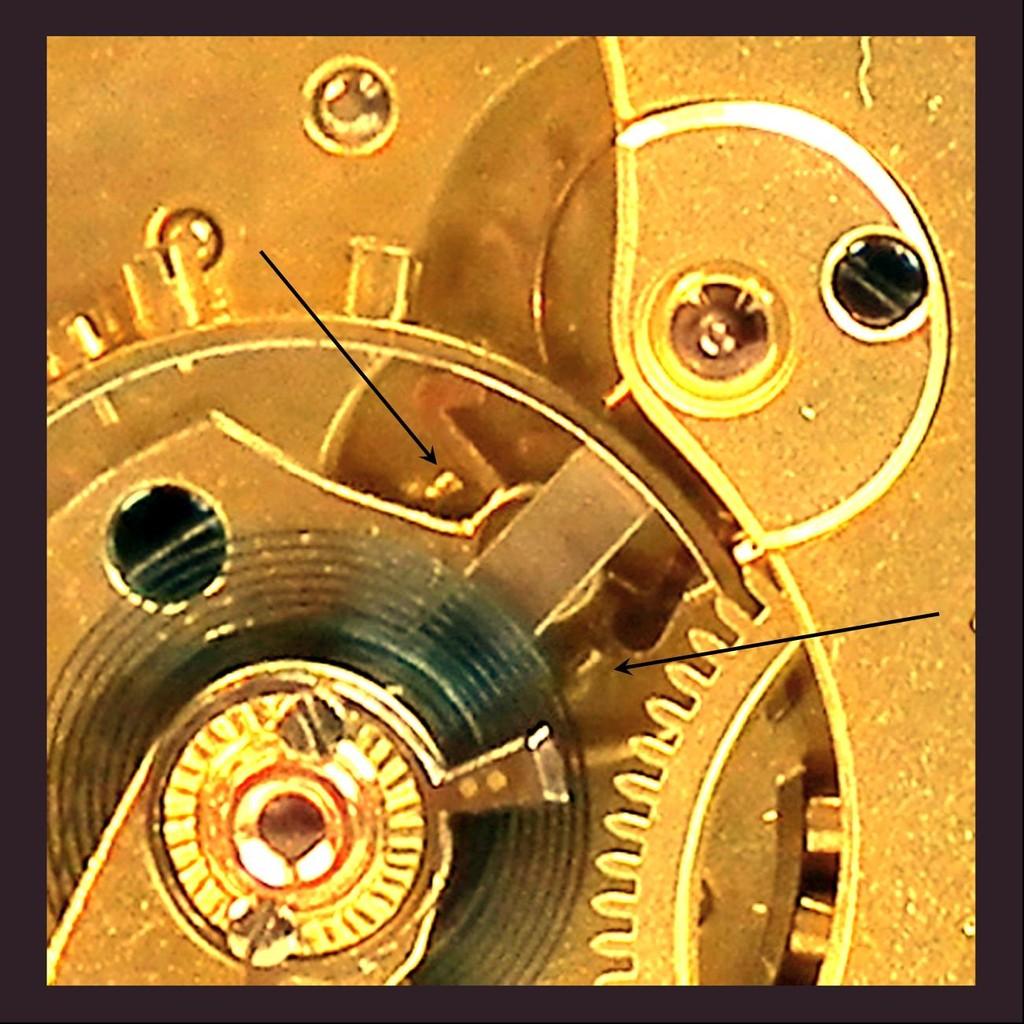Neue, 1902 patentierte Ankerhemmung von Ernst Kasiske