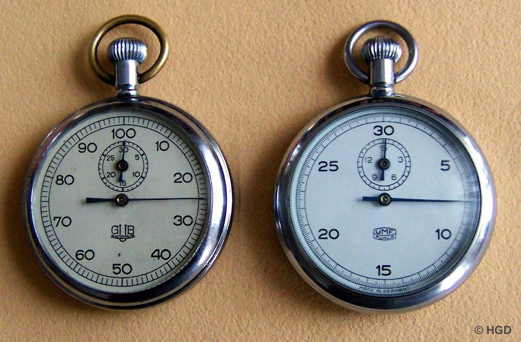 GUB 65 mit 60 & UMF 65 mit 30 Sekunden Zifferblatt