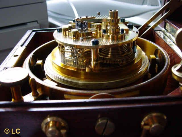 3. Detailansicht des Chronometerwerkes
