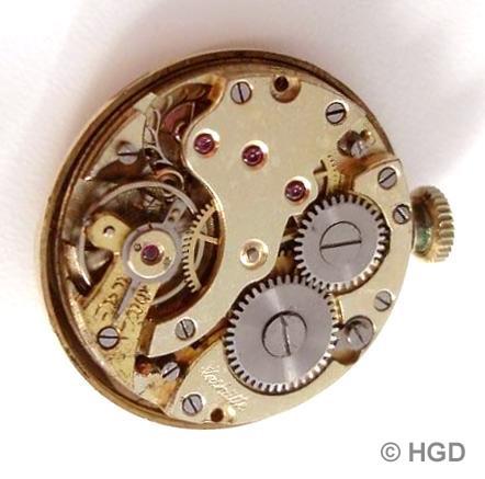 Urofa Werk Kaliber 522 mi 15 Steinen für Arctos Uhr der Pforzheimer Firma Weber & Aeschbach