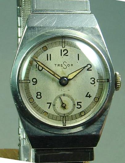 Tresor/Festa Uhr mit Urofa Kal.522 der Genossenschaft von Uhrenfabrikanten- u. Händlern Alpina