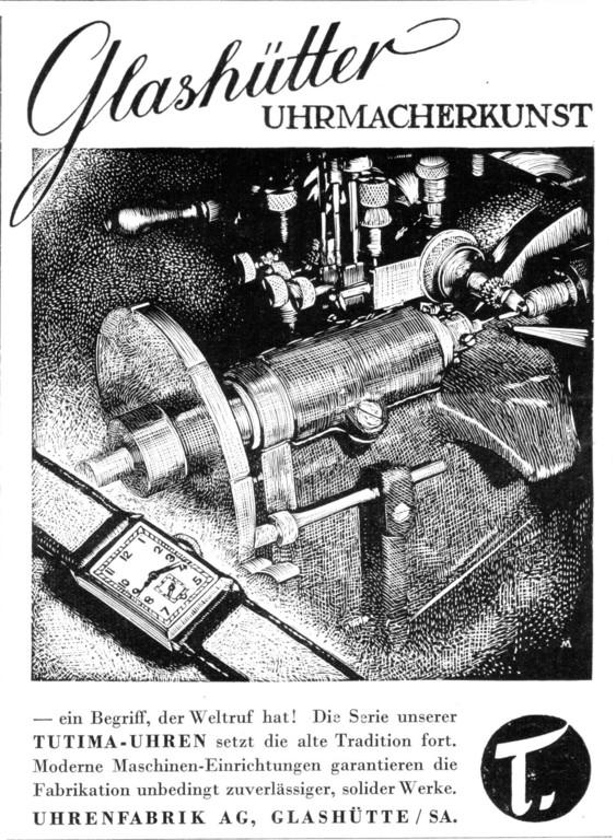 Tutimawerbung im September 1937