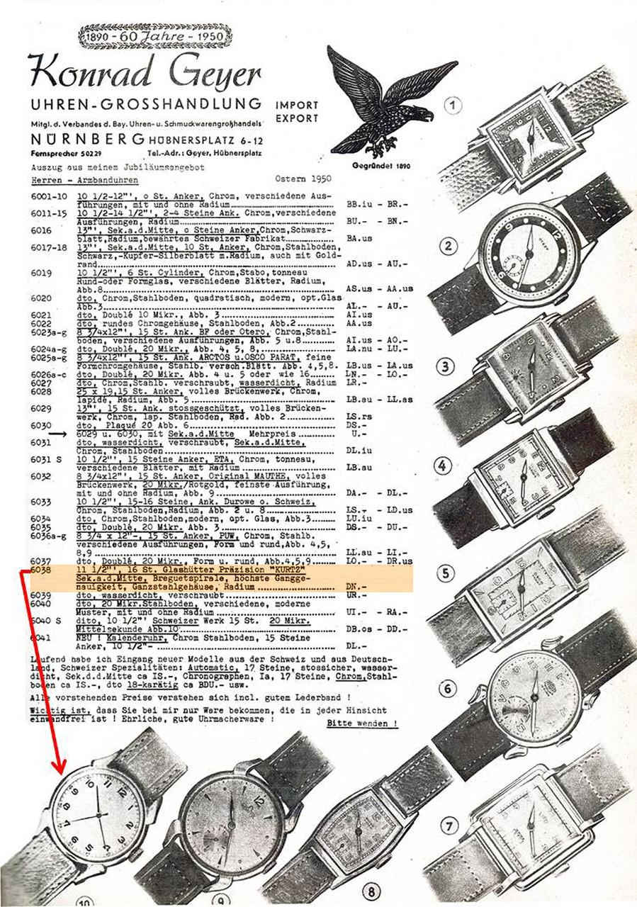 Werbeblatt des Nürnberger Großhändlers Geyer vom März 1950