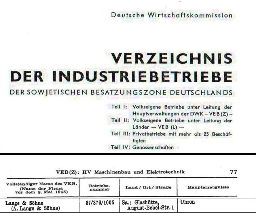 Das Dokument wurde  noch vor der Gründung der DDR im Oktober 1949 von der Deutschen Wirtschafts Kommission erstellt.