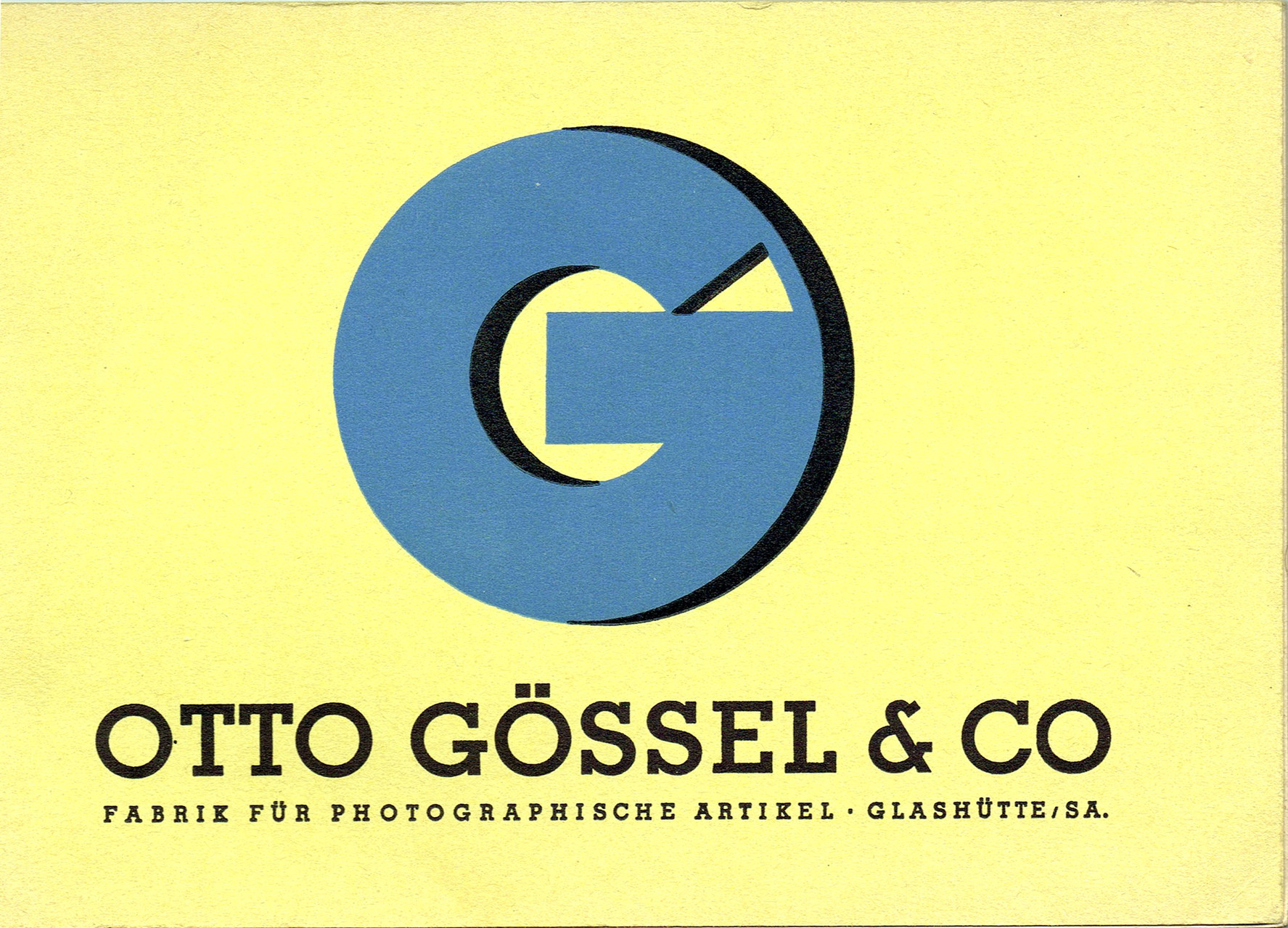 Feinmechanische Fabrik Otto Gössel & Co. 1918 - 1934 ...