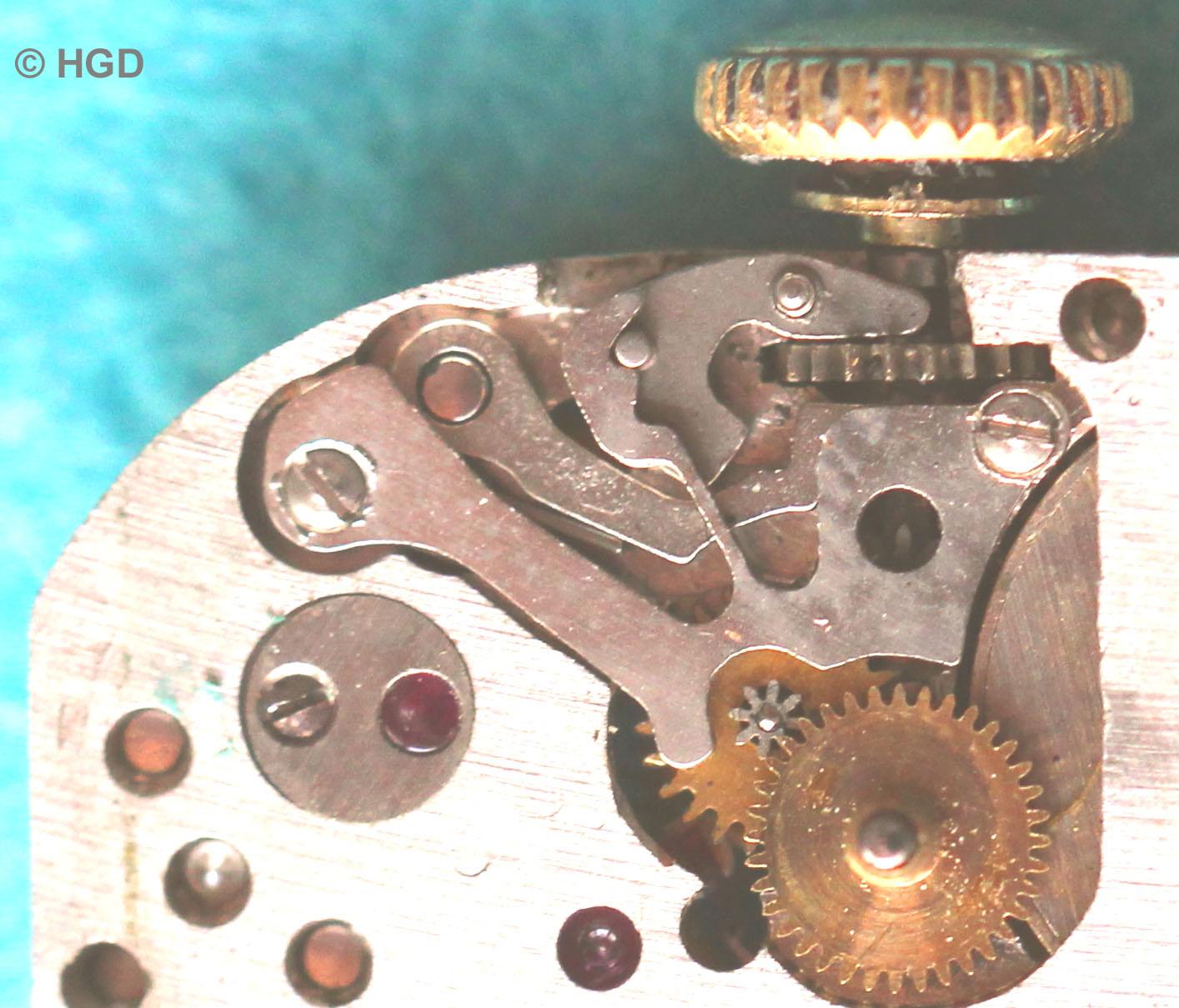 Der Zeigerstellungsmechanismus des N 570