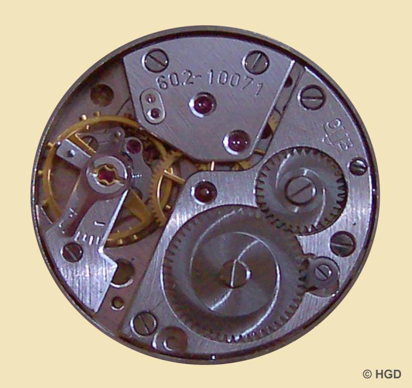 GUB Güteuhr Kaliber 60.2 18 Steine ohne Chatons und mit Incabloc Stoßsicherung