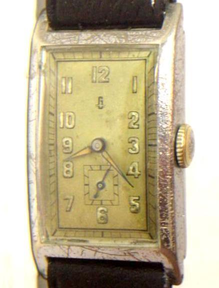 """Unrestaurierte Ufag """"G"""" Uhr mit Kaliber 581 im verchromten Messinggehäuse"""
