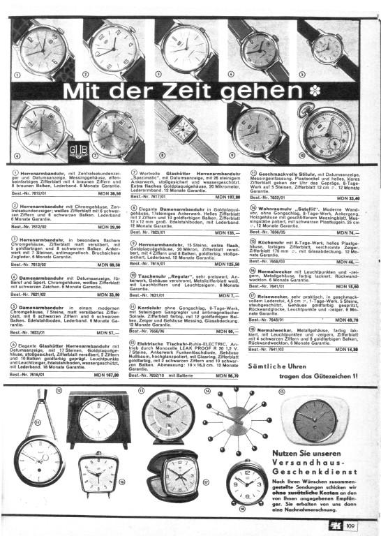 """""""Konsument"""" Versandhaus DDR 1968, Nr. GUB Kaliber 69.1 & Nr. 7 GUB Kal.75"""