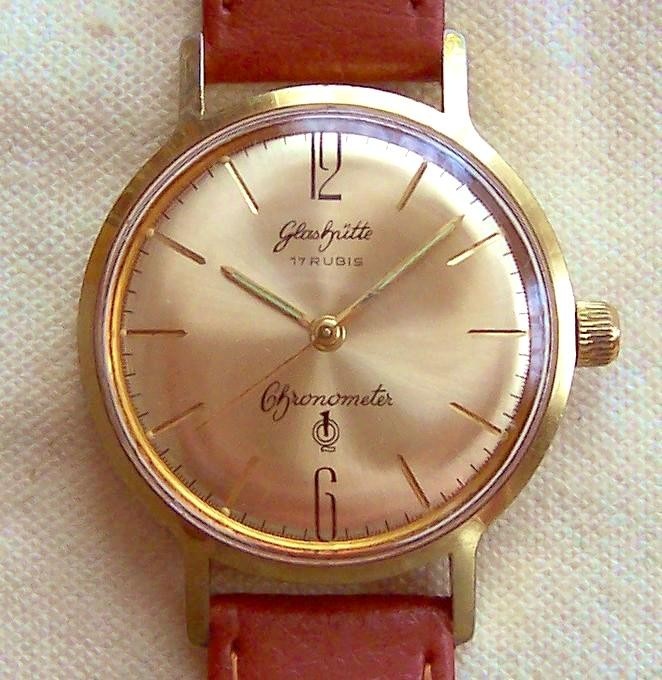 Chronometer Kaliber 70.3, Exportausführung im beschriebenen Importgehäuse mit Zertifikat