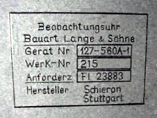Beleg für Remontagen bei der Stuttgarter Firma Schieron
