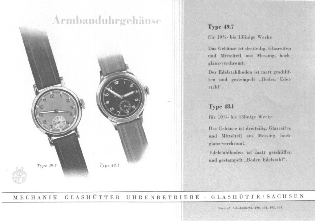 Vergleichsmodell des Gehäuses aus dem ersten GUB Katalog von 1951