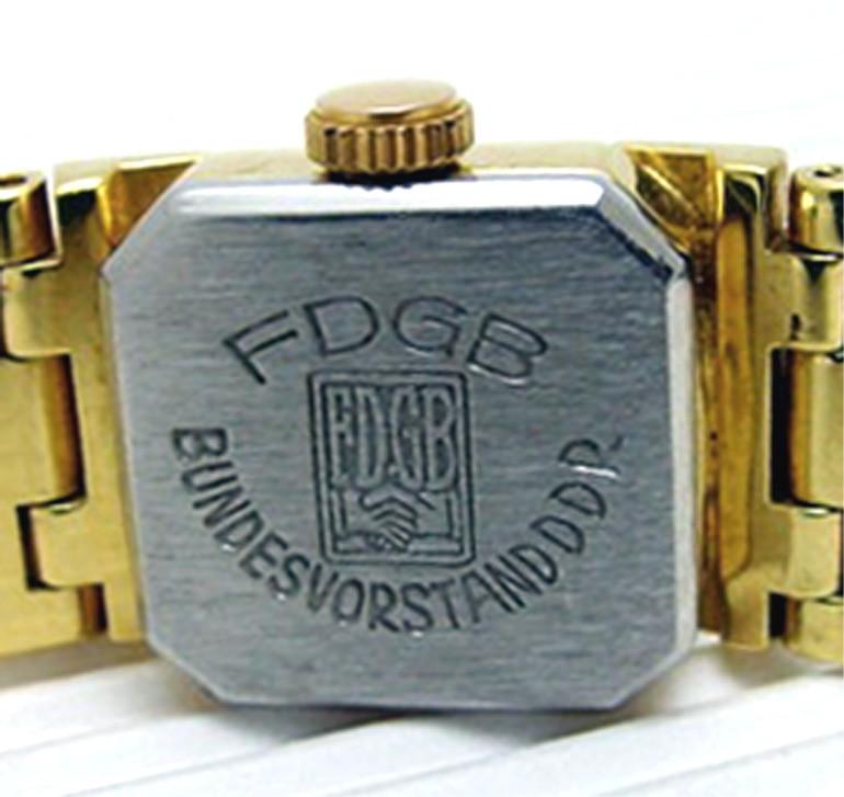 GUB DAU Kaliber 09-20 mit Bodenprägung des Bundesvorstandes  des Freien Deutschen Gewerkschaftsbundes (FDGB)