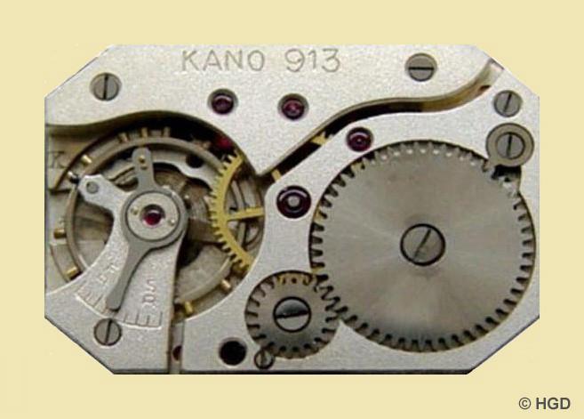 Urofa 58 für HAU Kano mit körnig versilbertes Werk