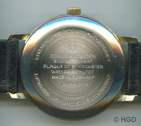 """36 mm Gehäuse des Uhrenwerkes Weimar,Edelstahldruckdeckel mi der Chronometerprägung """"Staatlich Geprüft"""""""""""