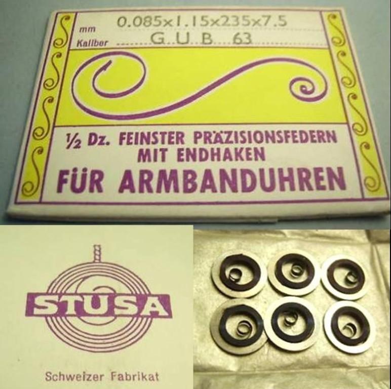 GUB Kal. 63 Schweizer Importfedern