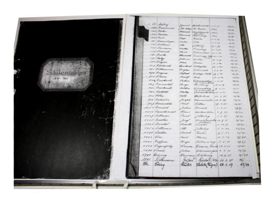 Das erhalten gebliebene Schülerverzeichnis