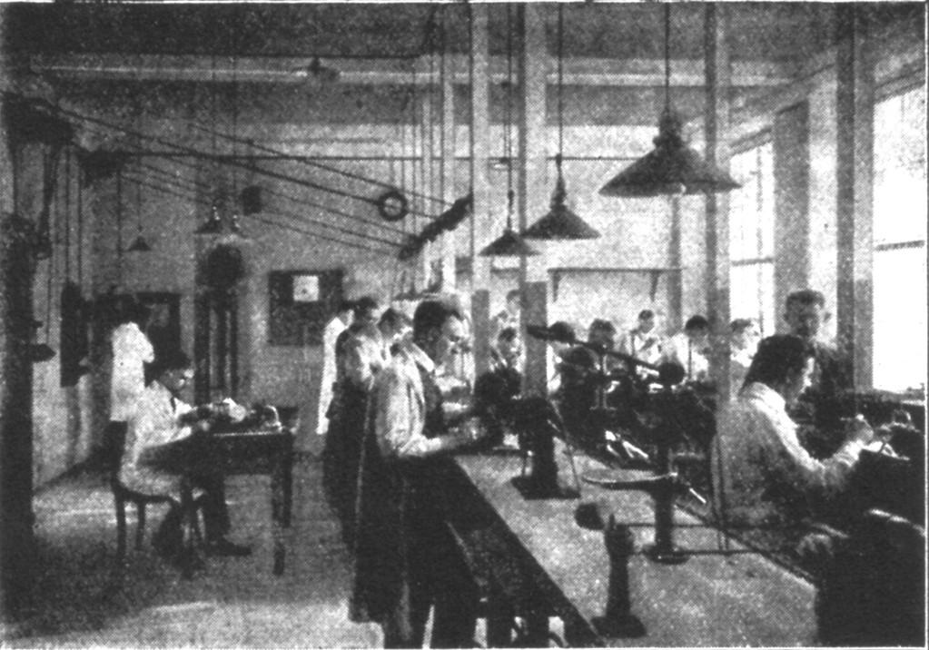 Eine Uhrmacherwerkstatt (Saal Hesse)