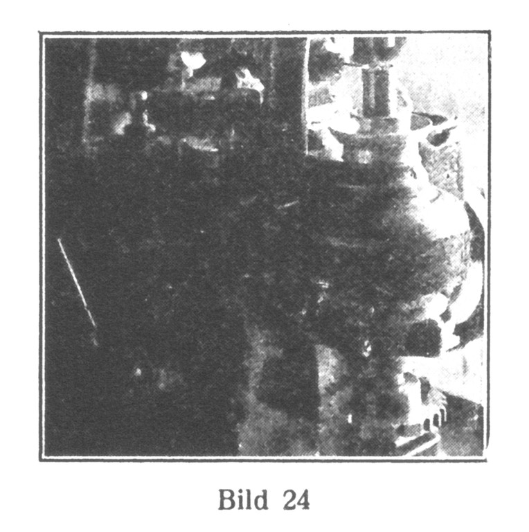 Bild 24: Die Löcher für die Unruhschrauben werden eingebohrt (oben rechts).