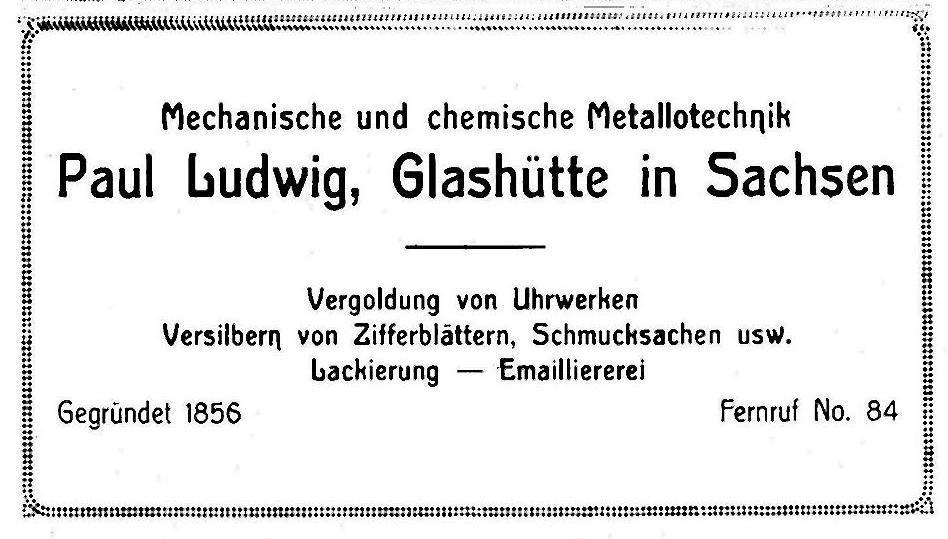 Werbung in Saxoniabericht Nr.23 1923