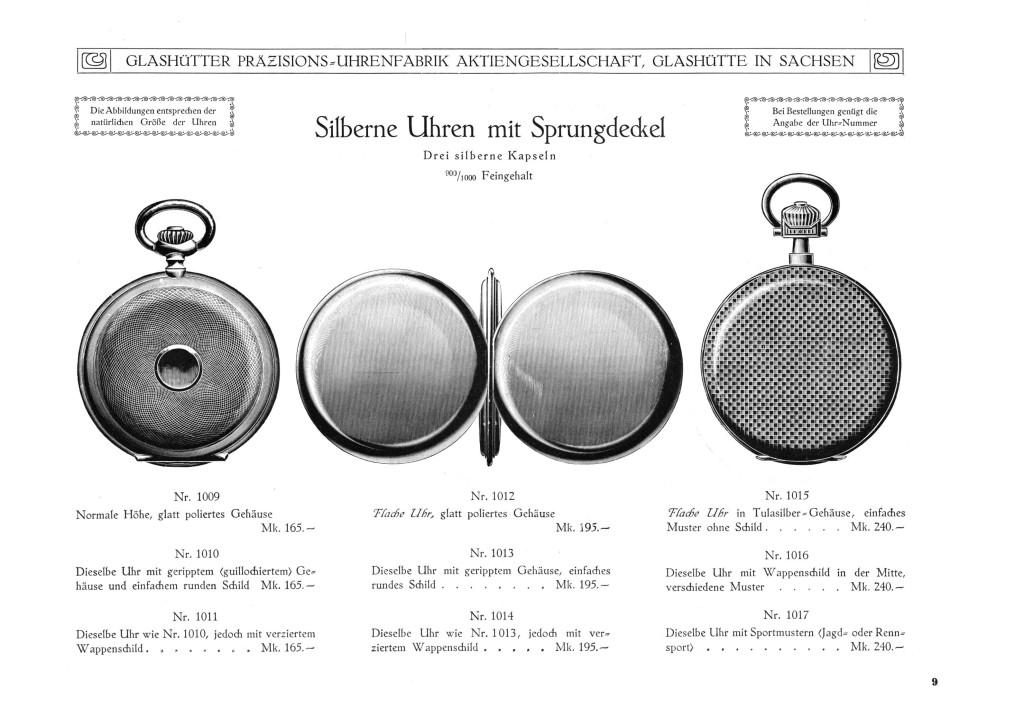 Herrentaschenuhren im Silbergehäuse (Savonette)