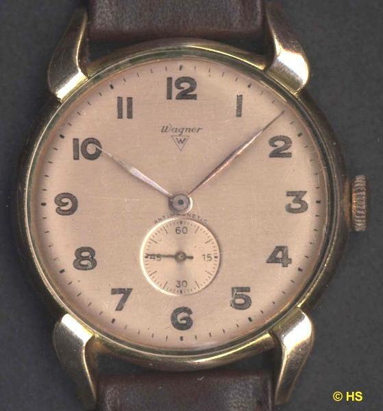 HAU Wagner mit Urofa 58 - Uhrenfabrik Ernst Wagner (ERWA), gegr. 1933 in Pforzheim