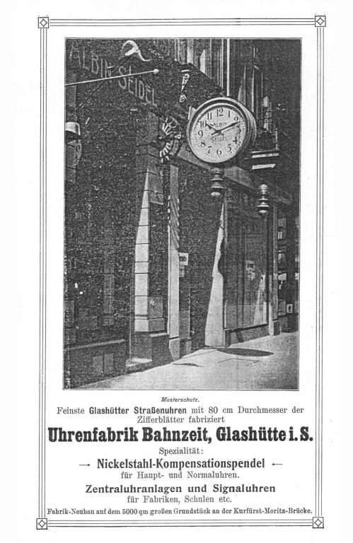 Werbung in Saxoniabericht 1910