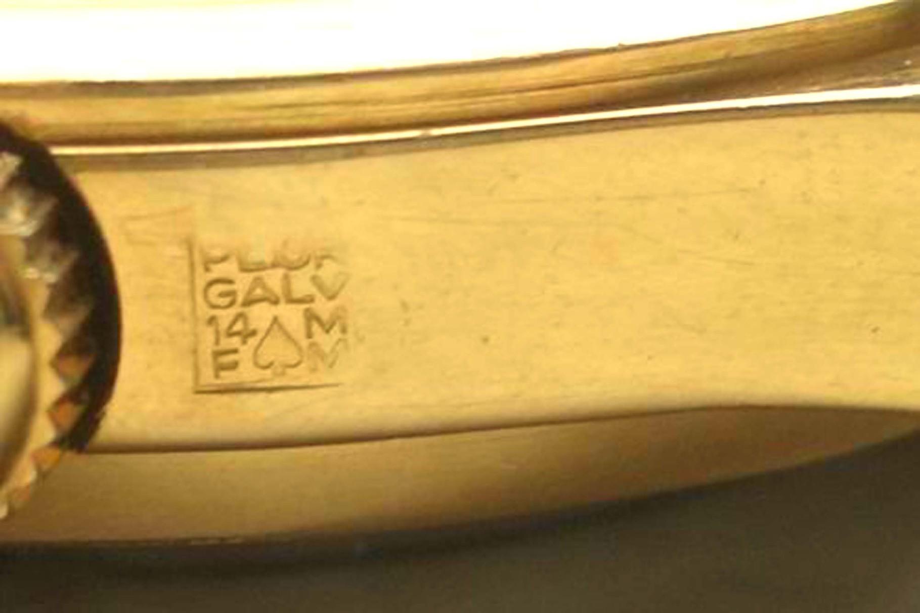 Punze für die 14 Karat galvanische Vergoldung