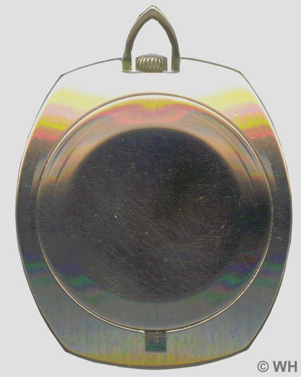 Aus der Bundesrepublik eingeführtes vergoldetes Messinggehäuse mit gedrücktem Deckel