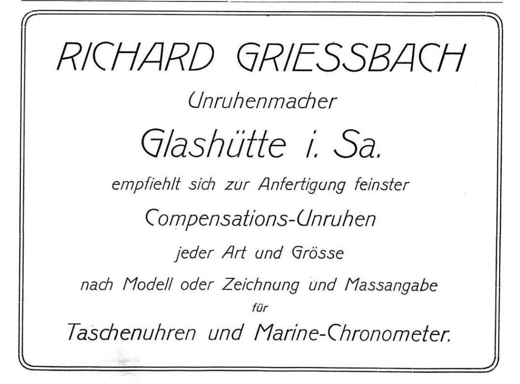 Werbung in Saxoniabericht 1905