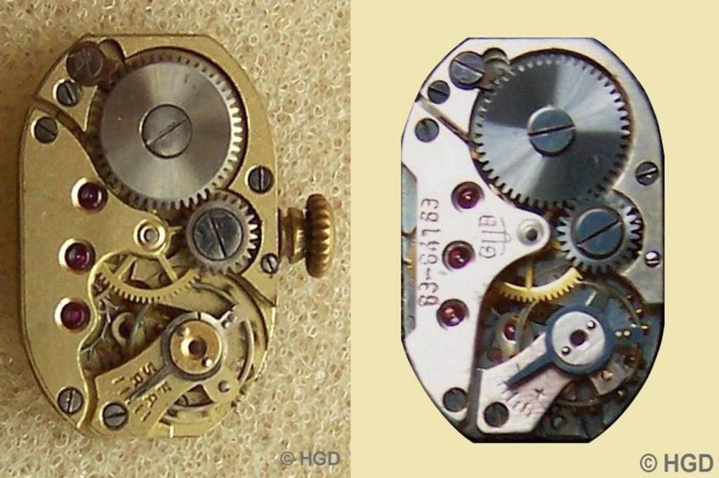 Werkkalibervergleich zwischen Urofa 542 & GUB 63 Werkseite
