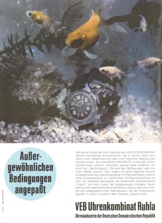 1967 - Das Innenleben Ost (GUB Kal. 75) fühlt sich im Edelstahlgehäuse West, sichlich wohl