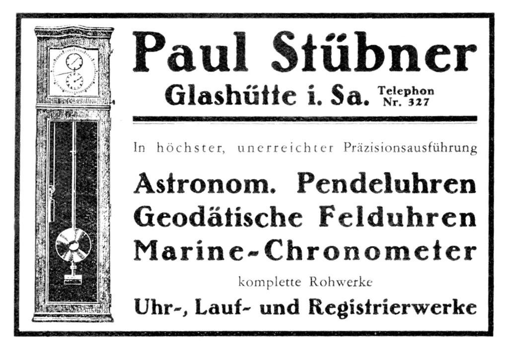 Deutsche Uhrmacher-Zeitung 1932 -die letzte Werbeanzeige