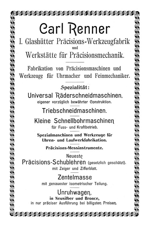 Werbung in Saxoniabericht Nr.1 1904