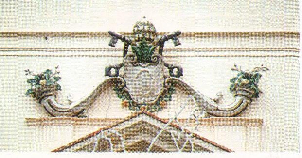 Il simbolo della Chiesa: Le Chiavi e due Cornucopie